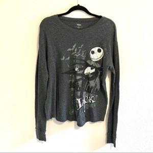Disney Store Jack Skellington Thermal Shirt Size L